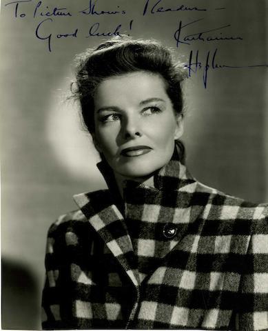 A large collection of autographs, including: James Stewart, James Cagney, Ava Gardner, John Mills etc