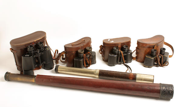 Four pairs of binoculars