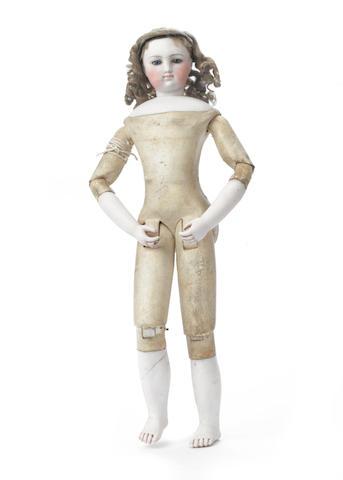 Simonne bisque shoulder head fashion doll, circa 1870