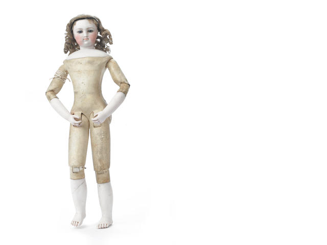 Simonne bisque shoulder head fashion doll, circa 1870