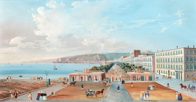 Neapolitan School, 19th Century Promenade, Naples