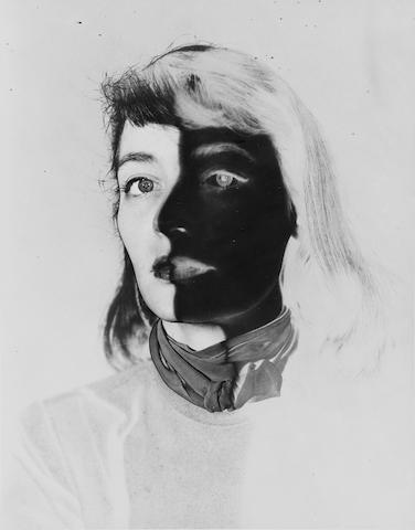 Erwin Blumenfeld (German, 1897-1969) Teddy Thurman, 1940s 35.5 x 28.5cm (14 x 11 1/4in).