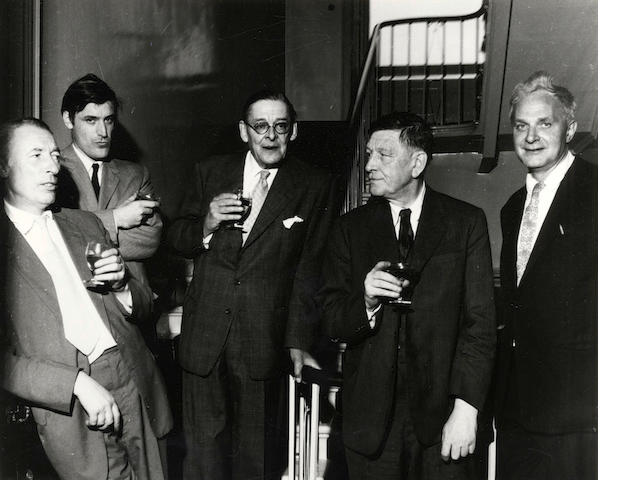 FABER POETS GERSON (MARK) Faber poets [T.S. Eliot, W.H. Auden, Ted Hughes, Stephen Spender, Louis MacNeice]; W.H. Auden, T.S. Eliot and his wife Valerie