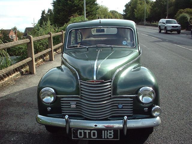 1952 Jowett Javelin Saloon  Chassis no. E2/PD/21558D Engine no. E2/PD/21558D
