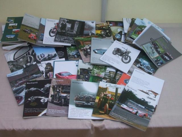 A large quantity of auction catalogues,