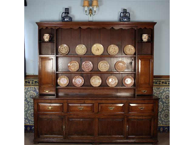 A George III and later oak high dresser