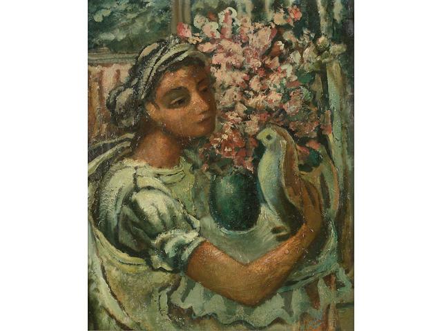 Daniel O'Neill (Irish, 1920-1974) Red Flowers in the Morning, No.8 64.7 x 49 cm. (25 1/2 x 19 1/4 in.)