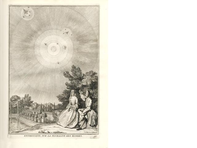 FONTENELLE (BERNARD DE BOVIER DE) Oeuvres diverses...nouvelle edition, augmentée & enrichie de figures gravées, 3 vol.