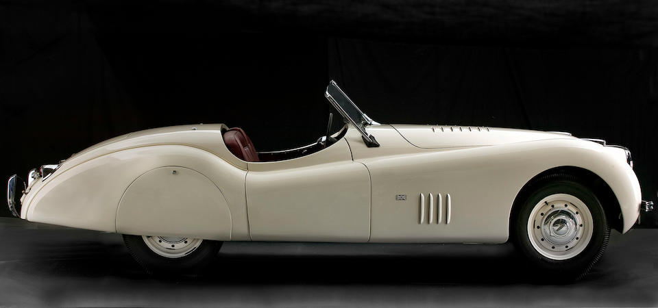 From the collection of The Late The Hon. John Dawson-Damer,1949 Jaguar XK 120 Alloy Roadster  Chassis no. 660017 Engine no. W1038-7
