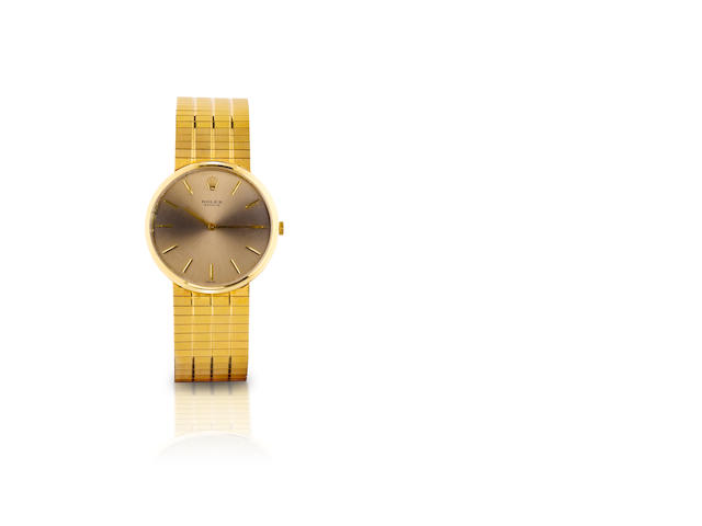 Rolex. A fine 18ct gold manual wind wristwatch Ref. 35927, Circa 1980s