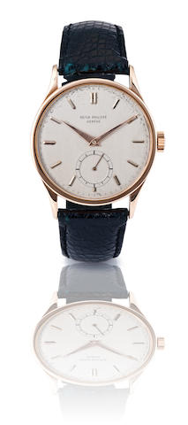 Patek Philippe. A fine 18ct rose gold manual wind wristwatch Calatrava