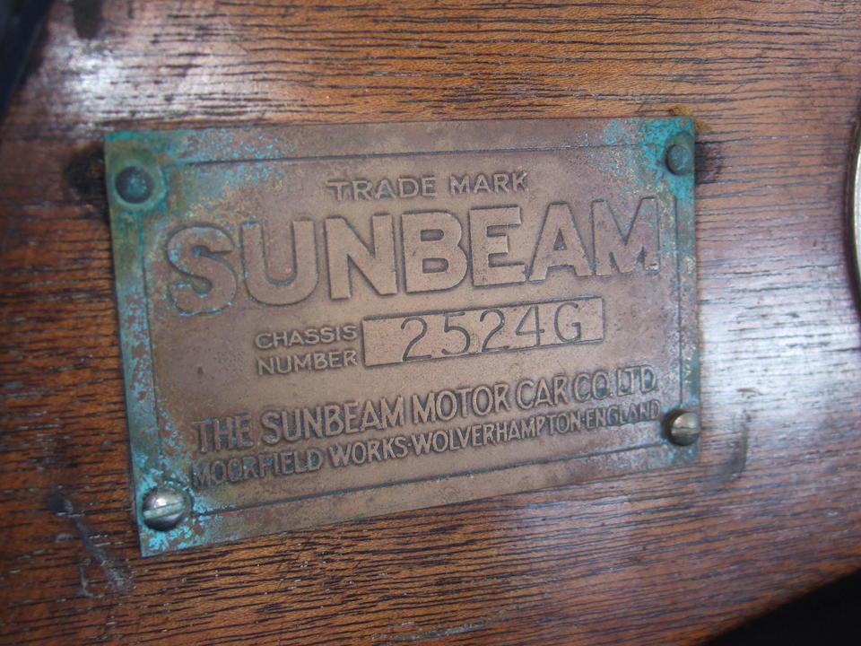 1928 Sunbeam 20.9 HP Light Sports Tourer  Chassis no. 2524G Engine no. 2522G
