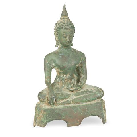 A Sukothai bronze Buddha Sakyamuni