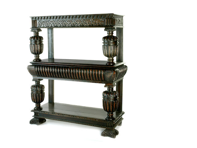 A good early 17th century three tier buffet