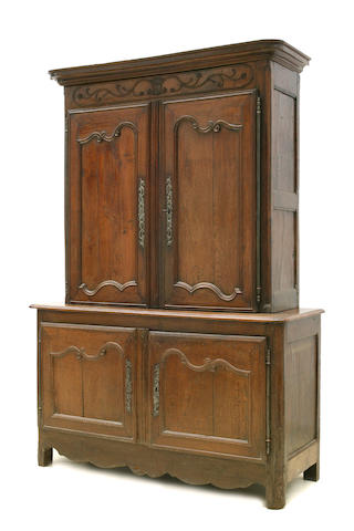 A Louis XV oak buffet de corp