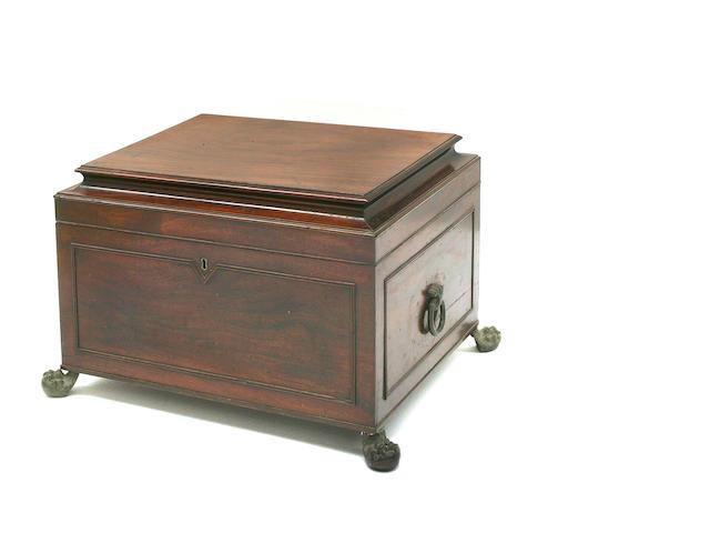 A Regency mahogany cellaret