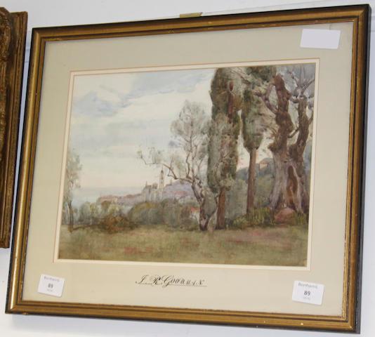 Attributed to John Reginald Goodman (British, born 1878) Mediterranean landscape