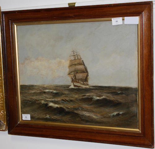 Gerhard Lukas-Larsen (German, born 1911) Ship in full sail
