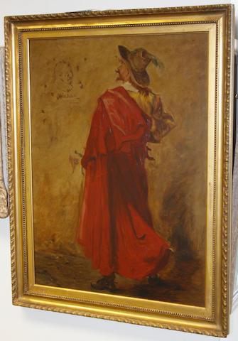 Follower of Edgar Bundy (British, 1862-1922) A cavalier