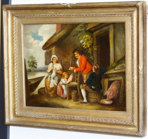 After George Morland Family before a cottage