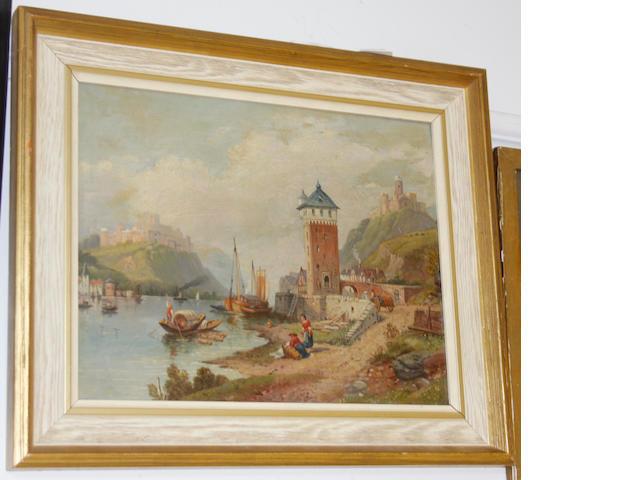 A. Callcott (19th Century) A Continental town scene