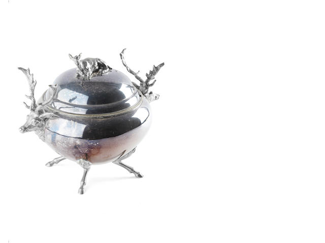 An electroplated breakfast tureen