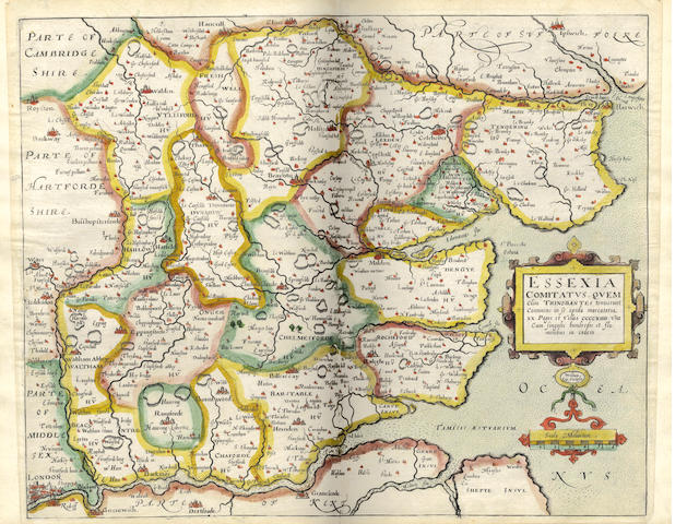 CAMDEN (WILLIAM) Britain, or a Chrorographicall Description of the Most Flourishing Kingdomes, England, Scotland, and Ireland, and the Islands Adioyning, out of the Depth of Antiquitie; Beautified with Mappes of the Severall Shire of England