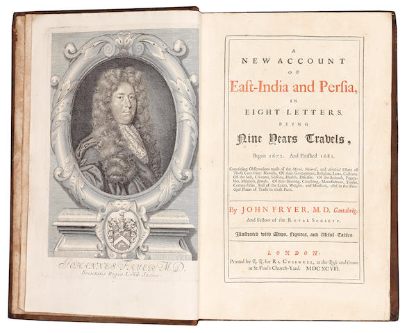 FRYER (JOHN) A New Account of East-India and Persia... Being Nine Years Travels, Begun 1672. And Finished 1681