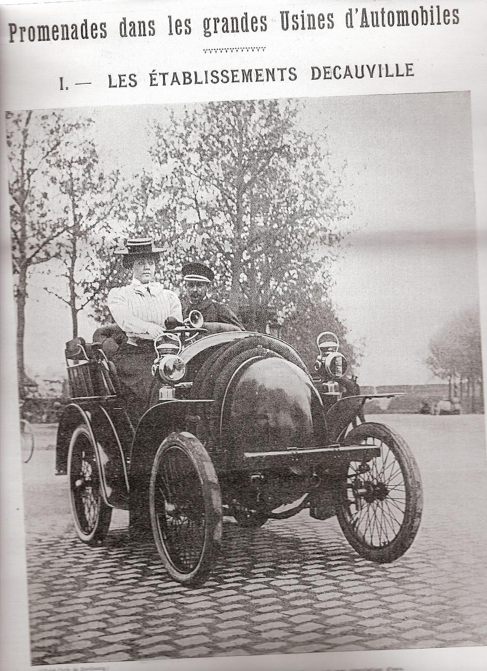 c1899 Decauville 5hp Twin-cylinder Two-seater  Chassis no. 530/639 Engine no. 530/639/11