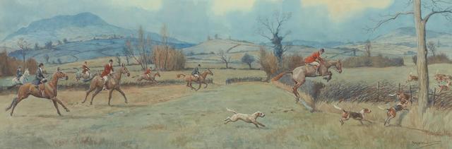 Frank Algernon Stewart (British, 1877-1945) The Monmouthshire Hounds