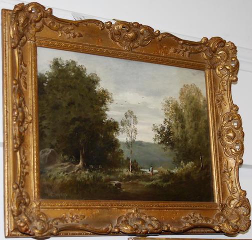 William Dean Barker (British) Landscape, oil on panel