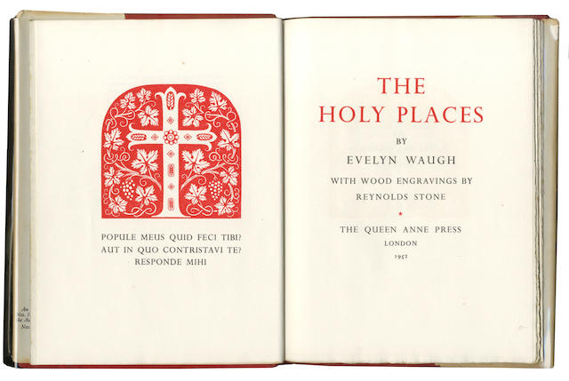 WAUGH (EVELYN) The Holy Places, FIRST EDITION, NUMBER ONE OF 50 COPIES SIGNED BY THE AUTHOR AND ILLUSTRATOR