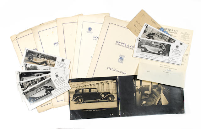 A lot of Hooper coachbuilders related ephemera,