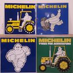 Four Michelin advertising signs,
