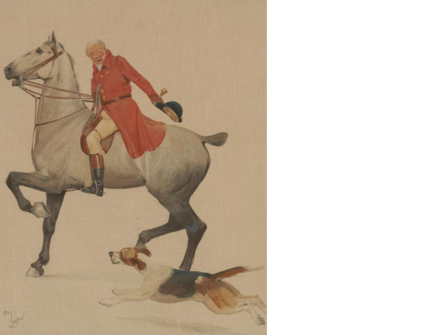 After Cecil Aldin Four coloured prints entitled 'The Parson', 'The Huntsman', 'The Jockey' and 'The Yokel' 41 x 33cm (4)