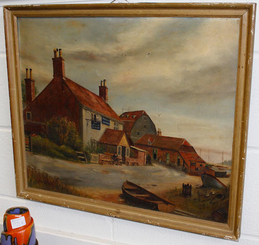 W A Standing, 20th Century - The Jolly Sailor, Waterside, Southampton, Hampshire, signed, oil on canvas, 50 x 60cm.