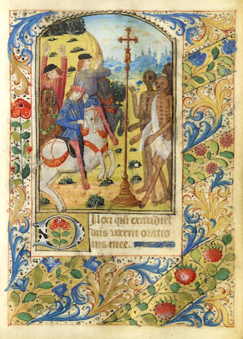 ILLUMINATED MANUSCRIPT BOOK OF HOURS, Use of Rouen