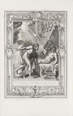 PICART (BERNARD) Le temple des muses orné de LX. tableaux ou sont représéntes les evenemens les plus remarquables de l'antiquité fabuleuse; dessinés & gravés par B. Picart Le Romain... et accompagnés d'explications et de remarques