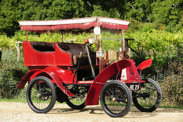In current ownership since 1963,1901 Renault 4½hp Type D Rear-entrance Tonneau with Canopy  Engine no. 6006
