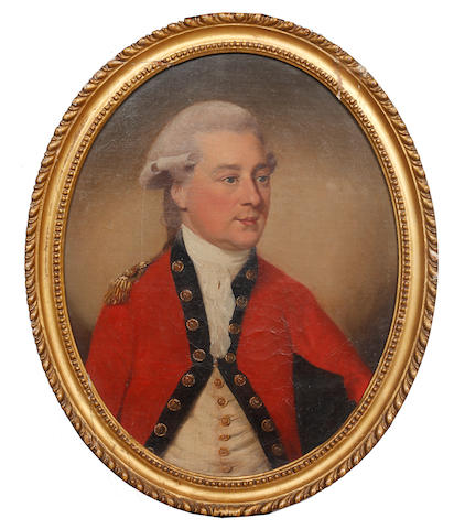 English School (early 19th Century) Portrait of a young officer