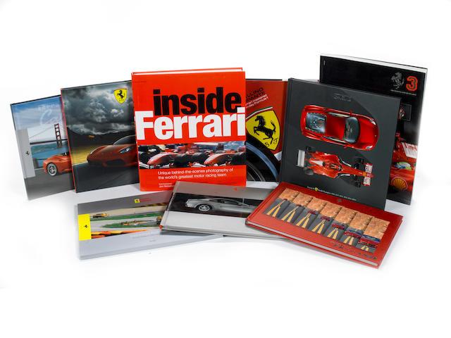 A lot of Ferrari literature,