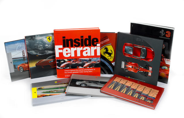 A lot of Ferrari literature,