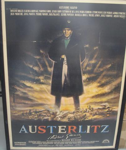 An 'Austerlitz' film poster, French, 1960,