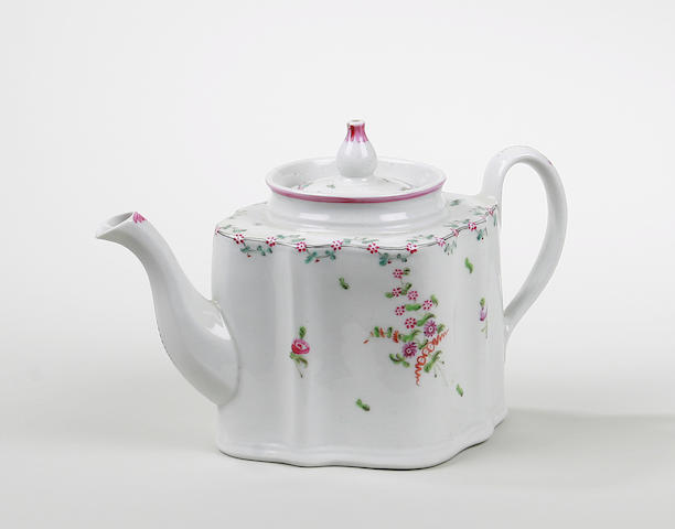 A Newhall teapot and cover marked N191
