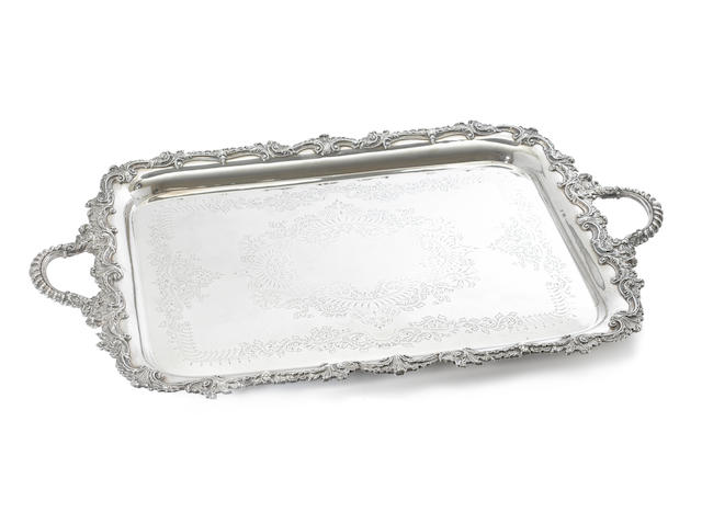A late Victorian silver two-handled tray, by J. Deakin & Sons, Sheffield 1901,