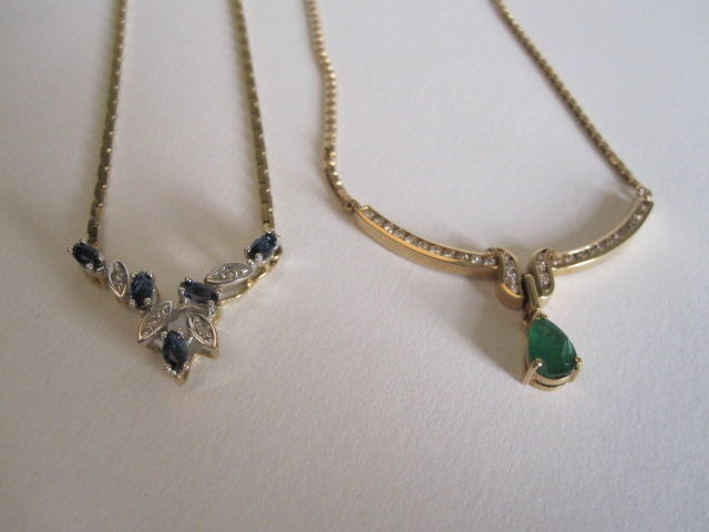 Two gem-set necklaces (2)