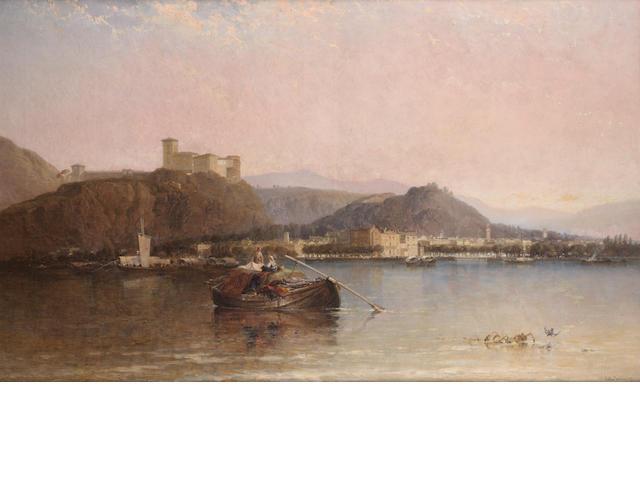 Arthur Joseph Meadows (British, 1843-1907) Arona-Lago Maggiore