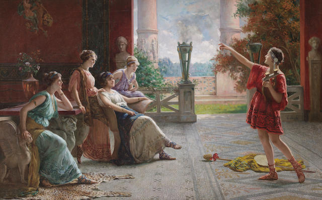 Guglielmo Zocchi (Italian, born 1874) The recital