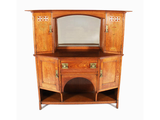 A Shapland and Petter oak sideboard, after a design by M.H. Baillie Scott
