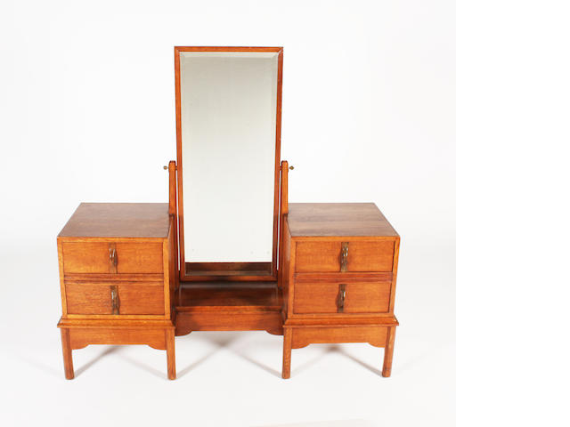 A Gordon Russell oak dressing table, designed by Gordon Russell, no. 621/1210, circa 1930